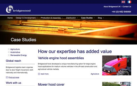 Screenshot of Case Studies Page bridgewooduk.com - Case Studies • Bridgewood UK - captured Aug. 3, 2018