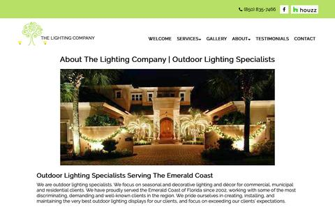 Screenshot of About Page thelightingco.com - About The Lighting Company | Outdoor Lighting Specialists - captured Oct. 18, 2018