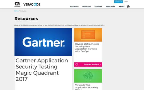 Resources & Security Best Practices   Veracode