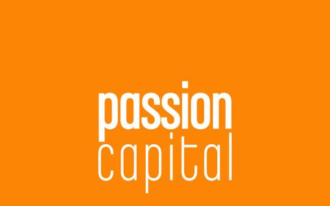 Screenshot of Home Page passioncapital.com - Passion Capital - captured Sept. 19, 2014