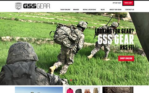 Screenshot of Home Page gssgear.com - Home | GSS Gear - captured Sept. 22, 2014