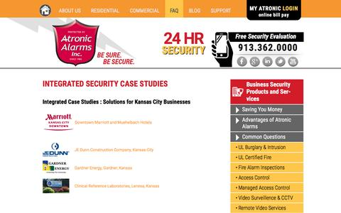Screenshot of Case Studies Page atronicalarms.com - Integrated Security Case Studies - Atronic Alarms, Inc. - captured Nov. 21, 2016