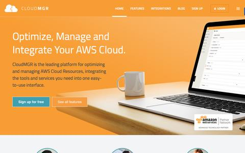 CloudMGR. Optimize and Manage Your AWS Cloud