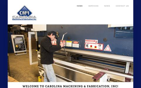 Screenshot of Home Page cmfinc.net - Carolina Machining and Fabrication, Inc. - captured Oct. 2, 2014