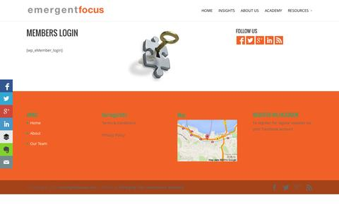 Screenshot of Login Page emergentfocus.com - Member Login - Emergent Focus - captured Oct. 2, 2014