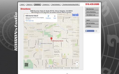 Screenshot of Maps & Directions Page ichronstudio.com - Directions - captured Dec. 18, 2015