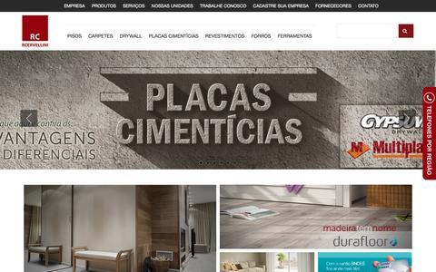 Screenshot of Home Page rcpisos.com.br - RC Pisos e Revestimentos - Distribuidora líder no segmento de pisos e revestimentos - captured Feb. 16, 2016