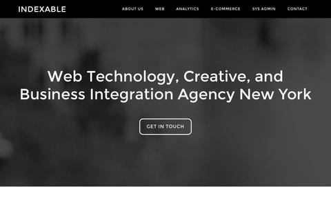 Screenshot of Home Page indexable.net - Indexable – Digital Agency New York - captured Oct. 6, 2014