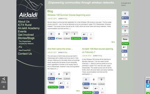 Screenshot of Blog airjaldi.org - Blog   AirJaldi Research & Innovation - captured Oct. 4, 2014