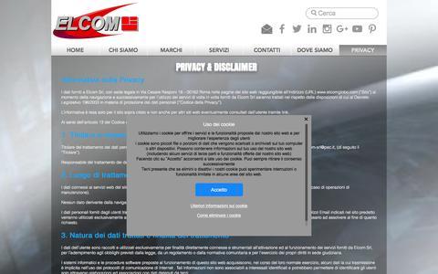 Screenshot of Privacy Page elcomglobo.com - elcom   PRIVACY - captured Oct. 14, 2016