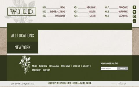 Screenshot of Contact Page Locations Page eatdrinkwild.com - Locations | WILD - captured March 24, 2016