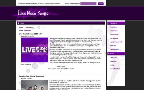 Screenshot of Press Page live-music-scene.co.uk - Live Music Scene -Features - captured May 13, 2016