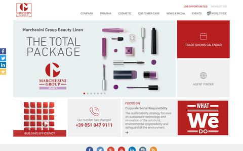 Screenshot of Home Page marchesini.com - Marchesini Group: Complete solutions for packaging applications - captured Feb. 18, 2019