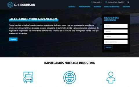 C.H. Robinson | Servicios de logística externos (3PL) y gestión de la cadena de suministro