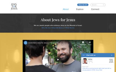 Screenshot of About Page jewsforjesus.org - About – Jews for Jesus - captured Oct. 22, 2018