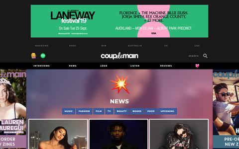 Screenshot of Press Page coupdemainmagazine.com - News   Coup De Main Magazine - captured Sept. 23, 2018