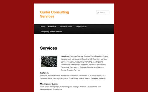 Screenshot of Services Page dgurka.com - Services | Gurka Consulting Services - captured Nov. 4, 2016