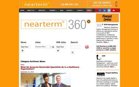Screenshot of Press Page nearterm.com - News Archives - Nearterm - captured Jan. 12, 2016