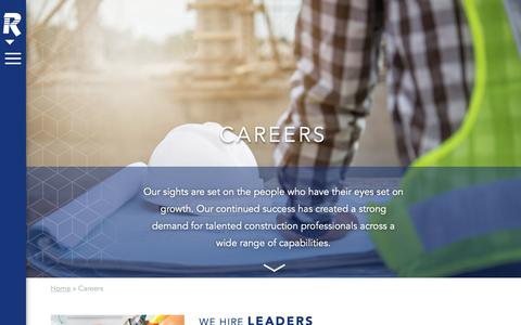 Screenshot of Jobs Page russellco.com - Careers - Russell - captured Oct. 19, 2018