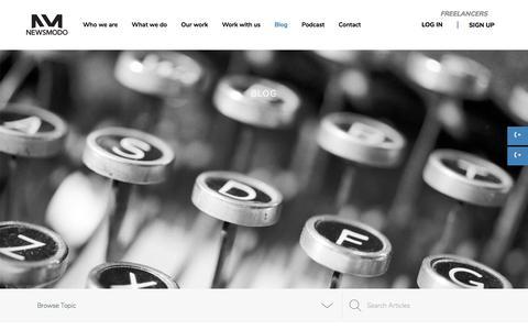 Screenshot of Blog newsmodo.com - Blog – Newsmodo - captured Sept. 20, 2018
