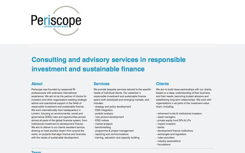 Periscope responsible investment advisors - Periscope
