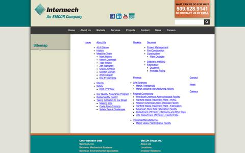 Screenshot of Site Map Page intermechinc.com - Sitemap :: Intermech, Inc. - captured July 27, 2018