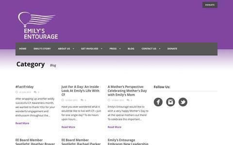 Screenshot of Blog emilysentourage.org - Emilys Entourage   » Blog - captured July 3, 2015