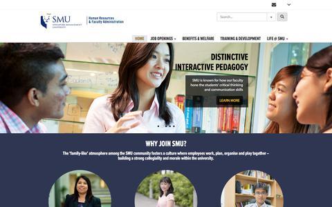 Screenshot of Jobs Page smu.edu.sg - Home | Careers@SMU - Working In Singapore Management University - captured Sept. 23, 2018