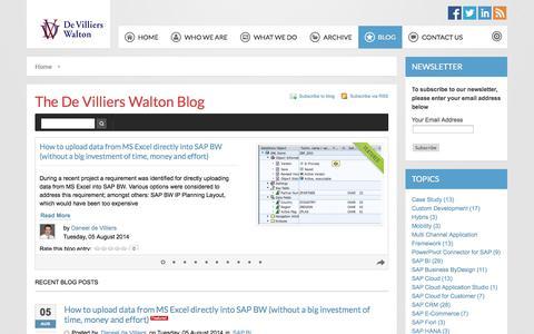 Screenshot of Blog dvwsolutions.com - Recent blog posts - captured Oct. 6, 2014