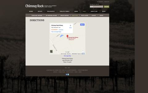 Screenshot of Maps & Directions Page chimneyrock.com - Chimney Rock - Directions - captured Oct. 2, 2014