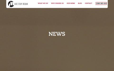 Screenshot of Press Page onestopmedia.com.au - News - One Stop Media - captured Nov. 5, 2014