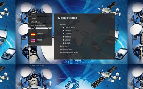 Screenshot of Site Map Page shareng.es - SHARENG - Home - captured July 25, 2018