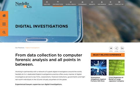 From data collection to computer forensic  analysis and all points in between.