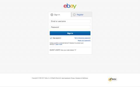 Screenshot of Contact Page ebay.co.uk - Sign in or Register | eBay - captured Nov. 20, 2017