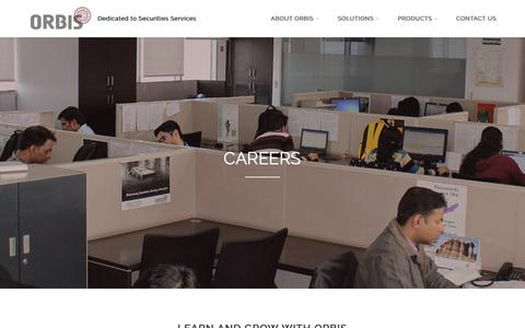 Screenshot of Jobs Page orbisfinancial.in - Careers at Orbis Financial - captured Oct. 18, 2018