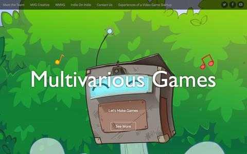 Screenshot of Home Page multivariousgames.com - Multivarious Games | Let's Make Games - captured Aug. 16, 2015