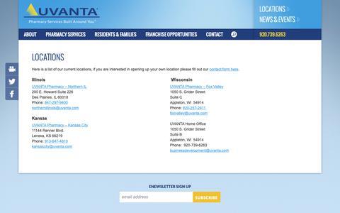 Screenshot of Locations Page uvanta.com - Uvanta   Locations - captured Oct. 20, 2018