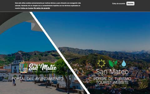 Screenshot of Home Page vegadesanmateo.es - Bienvenido a Ayuntamiento de Vega de San Mateo | Ayuntamiento de Vega de San Mateo - captured Dec. 4, 2018