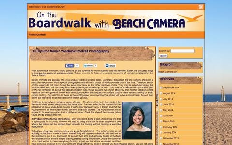 Screenshot of Blog beachcamera.com - On the Boardwalk with Beach Camera - On the Boardwalk with Beach Camera - captured Sept. 24, 2014
