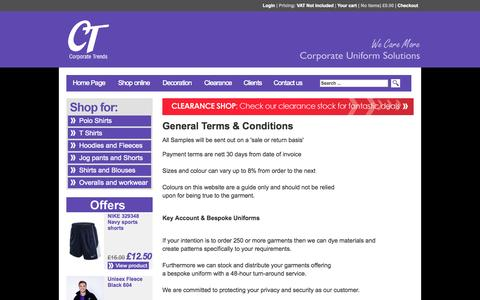 Screenshot of Terms Page corporatetrends.co.uk - Corporate Trends - captured Oct. 3, 2014
