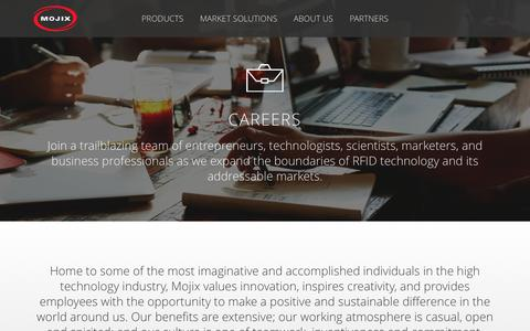 Screenshot of Jobs Page mojix.com - Careers - Mojix Inc. - captured Dec. 10, 2015