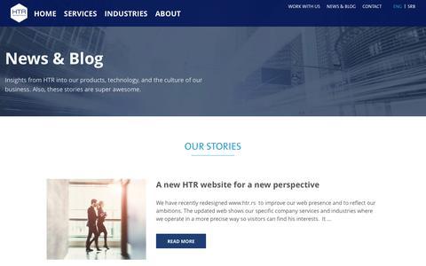 Screenshot of Blog htr.rs - News&Blog - HTR Refractories - captured July 11, 2017
