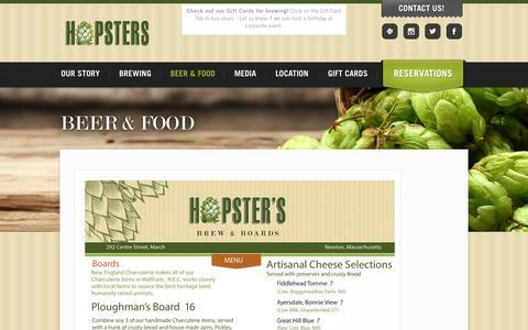 Screenshot of Menu Page hopsters.net - Menu | Hopsters – Brew Your Own Beer - captured Sept. 30, 2014