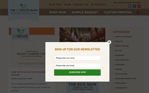 Screenshot of Blog ecoenclose.com - EcoEnclose Blog - captured Oct. 22, 2016