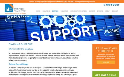 Ongoing Support, Western Computer | Technical Support, Microsoft Dynamics