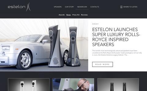 Screenshot of Press Page estelon.com - Newsroom - Estelon - captured Oct. 8, 2017