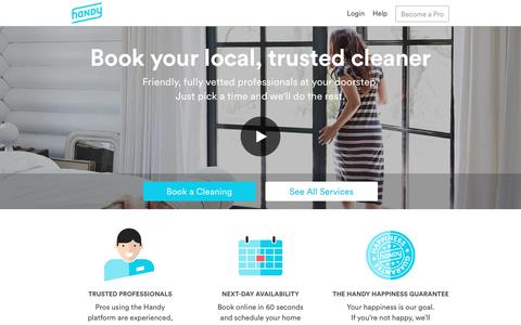 Handy | Handy | Instant Booking of Cleaning & Other Services
