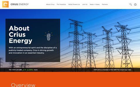 Screenshot of Team Page criusenergy.com - Crius Energy Trust - About Crius - captured Nov. 8, 2018
