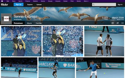 Screenshot of Flickr Page flickr.com - Flickr: TennisExpress' Photostream - captured Oct. 24, 2014