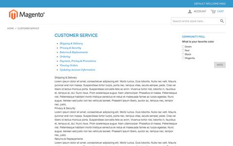 Screenshot of Support Page 247shopping.ca - Customer Service - captured Oct. 18, 2017